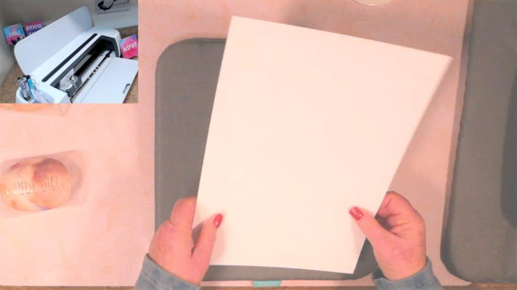 lay white card stock on top of easy press mat to keep ink from getting on your easy press mat
