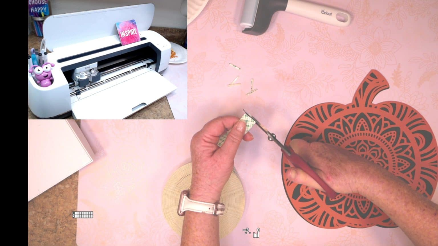 using two sided tape to separate the layers of paper crafting