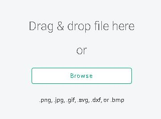showing where to drag and drop a variety of files into design space