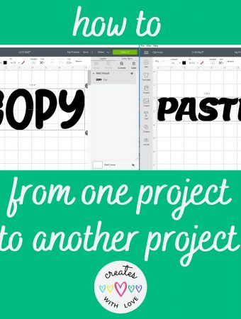 How to copy and paste from one project to another in Cricut Design Space Instructions