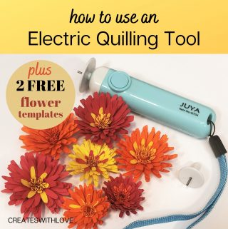 electric quilling tool with 2 free flower files