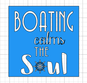I designed a boating themed coaster for you all too!