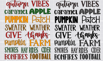 word art designed in cricut design space to make diy word art signs