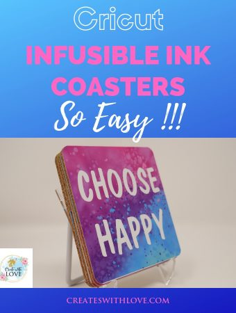 cricut infusible ink square coasters that are so easy to create