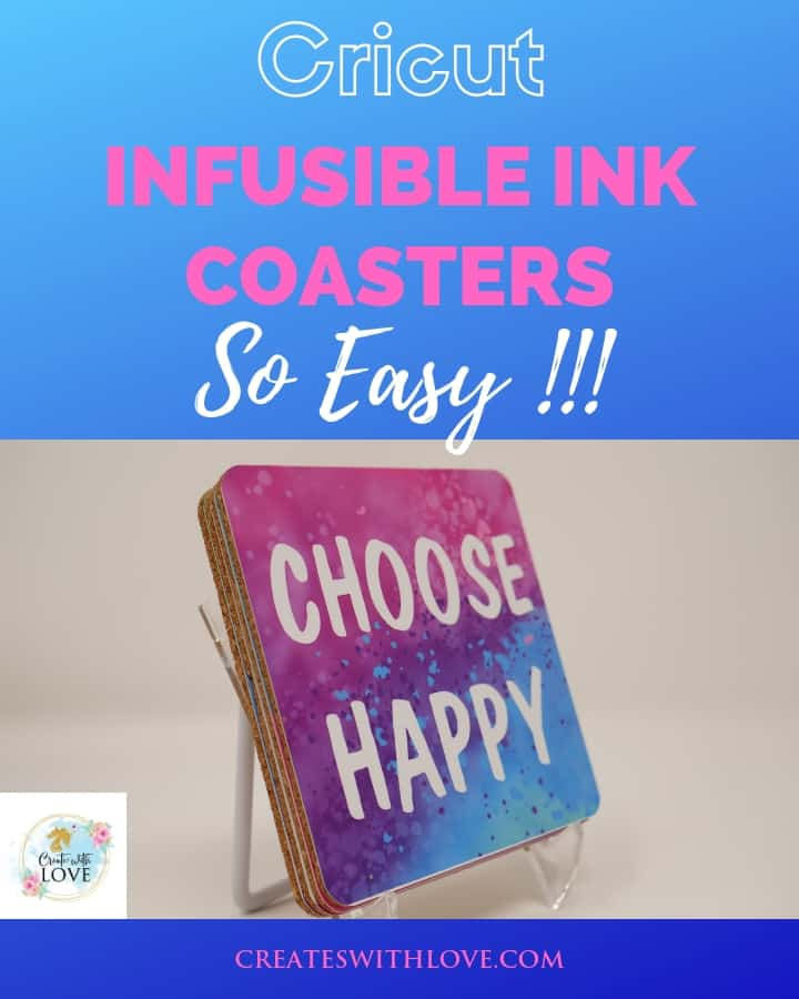 cricut infusible ink coasters that are square and so easy