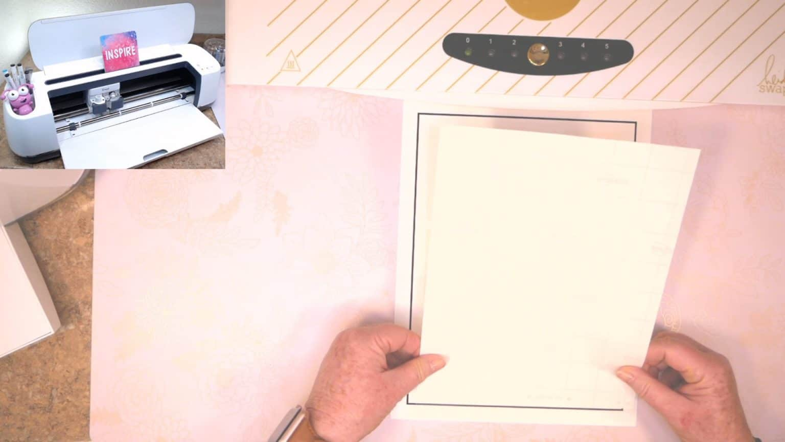 align waterproof sticker paper to the edge of the black line of your printer sticker sheet