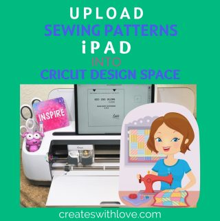 Uploasing sewing patterns into Design Space