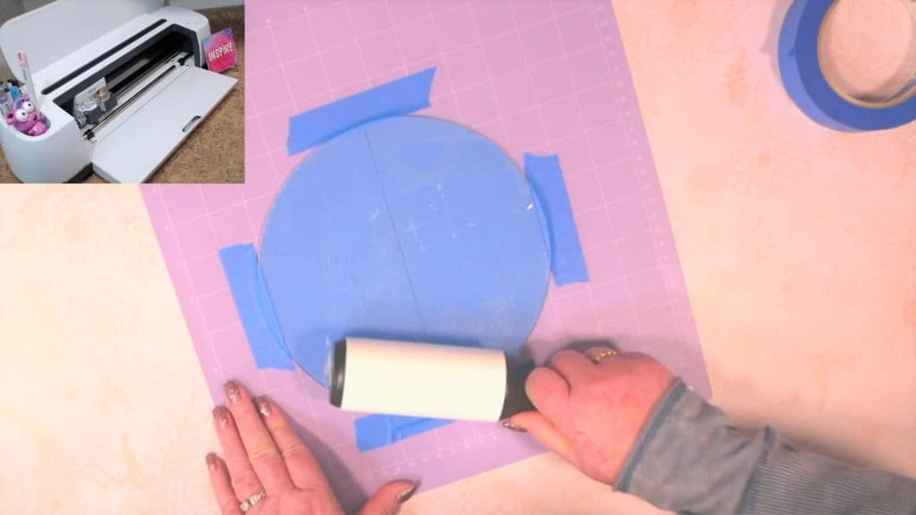 use a lint roller to remove acrylic dust