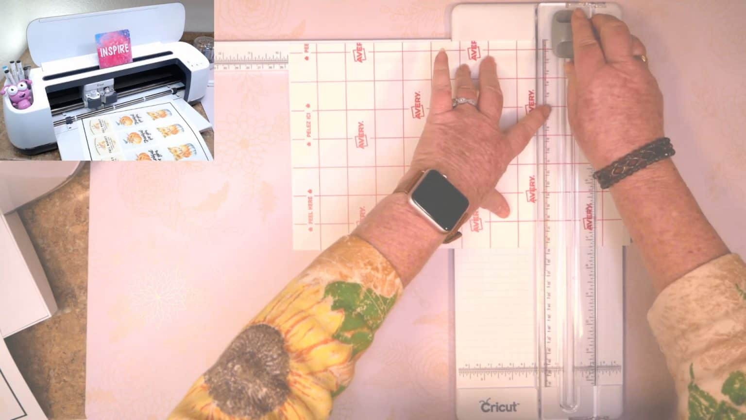 using a paper trimmer to trim down your waterproof sticker paper