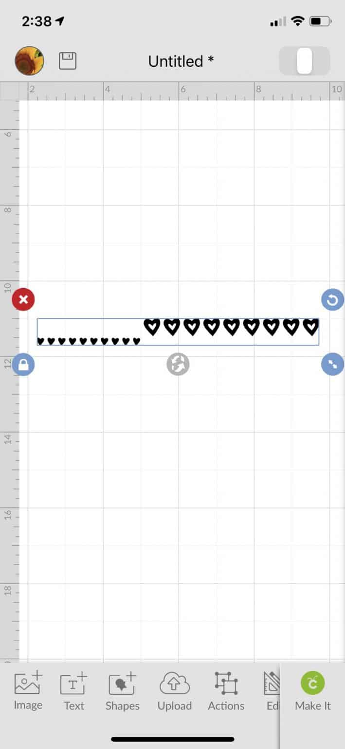 showing how easy it is to use symbols on a cell phone to get cute hearts with two different heart shapes.